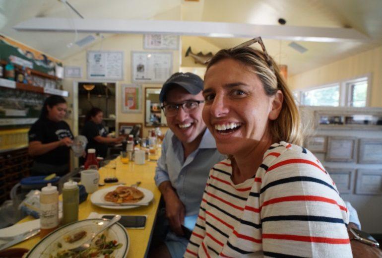 Ben & Jessie at the brunch counter : Estia's Little Kitchen 9/23/18
