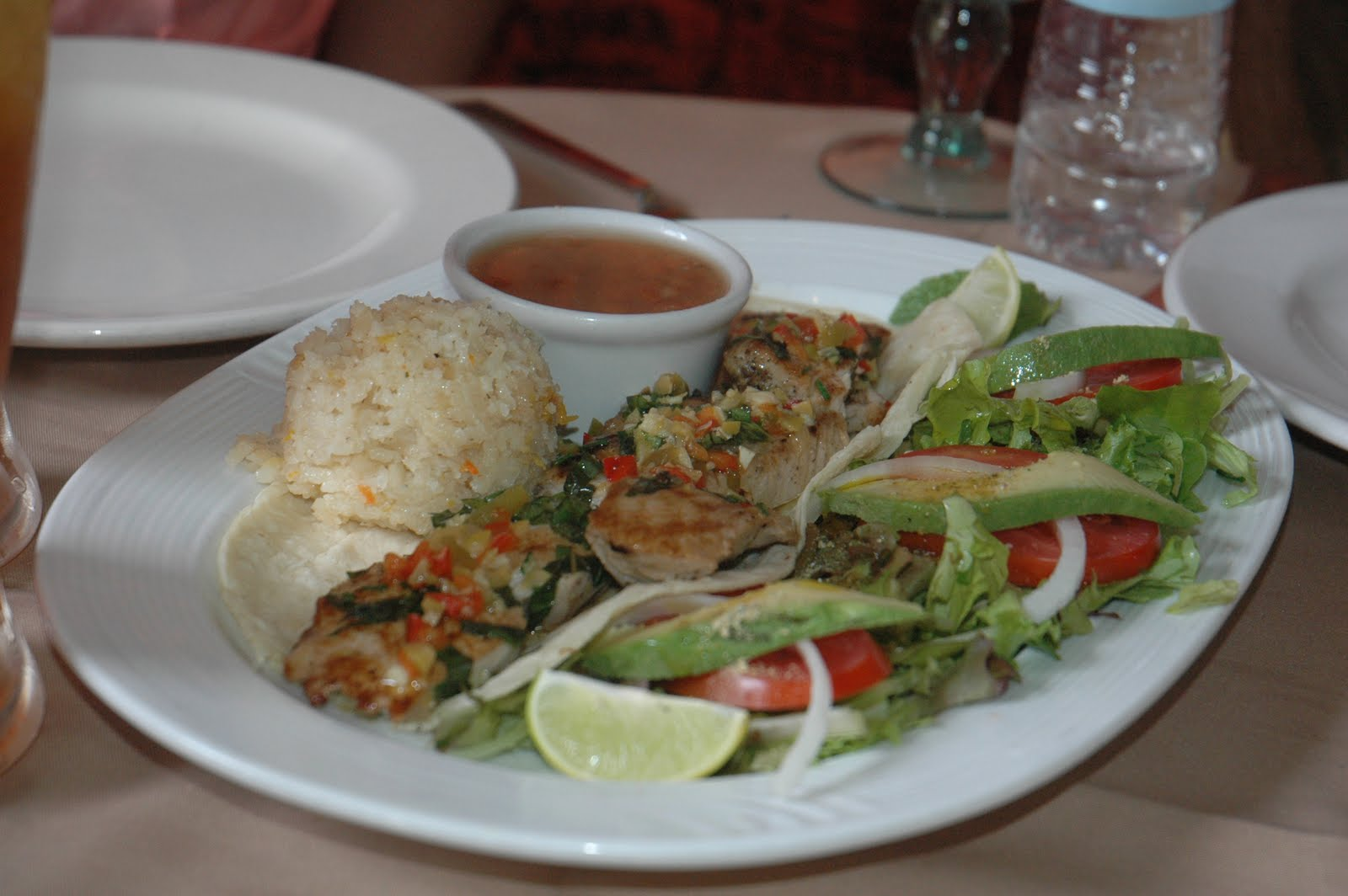 Fish tacos at the tequila sunrise restaurant in todos for Fish taco restaurant