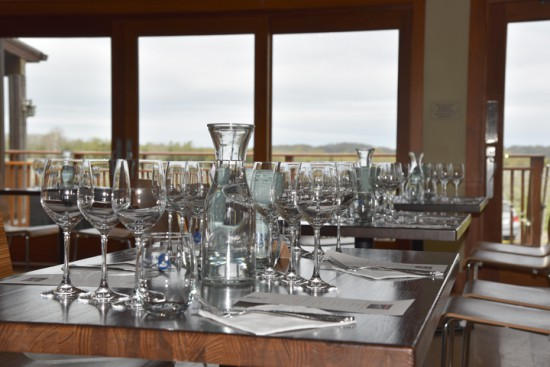 Macari dining room at the tasting center