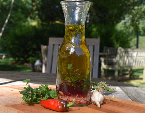 Ingredients for a Greek Style Vinaigrette