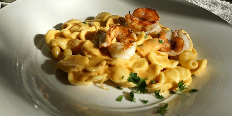 Grilled Shrimp & chipotle alfredo