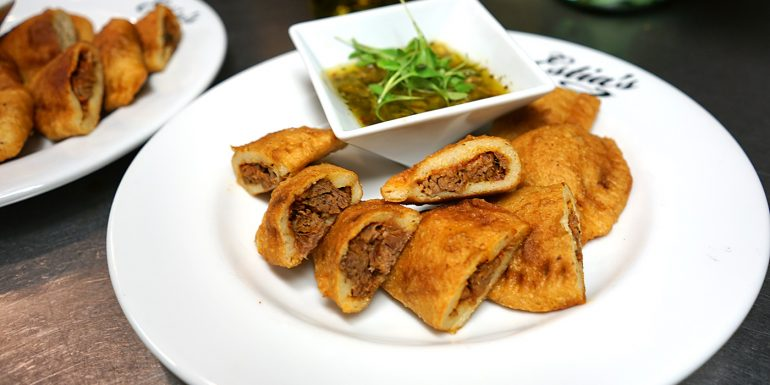 Empanadas with Chorizo, onion, pepper filling