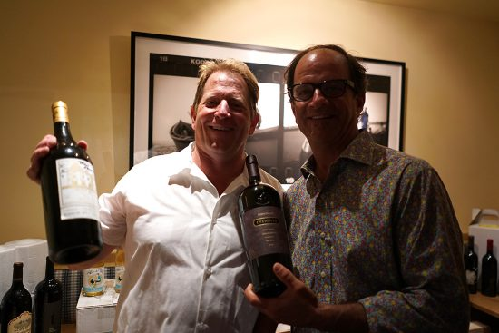in the wine room with Michael Cinque