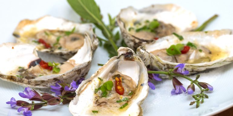 Simple grilled oyster recipe by chef Anita Lo