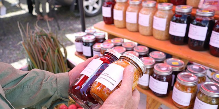 Finding pickled beets at Hayward Farmers Market
