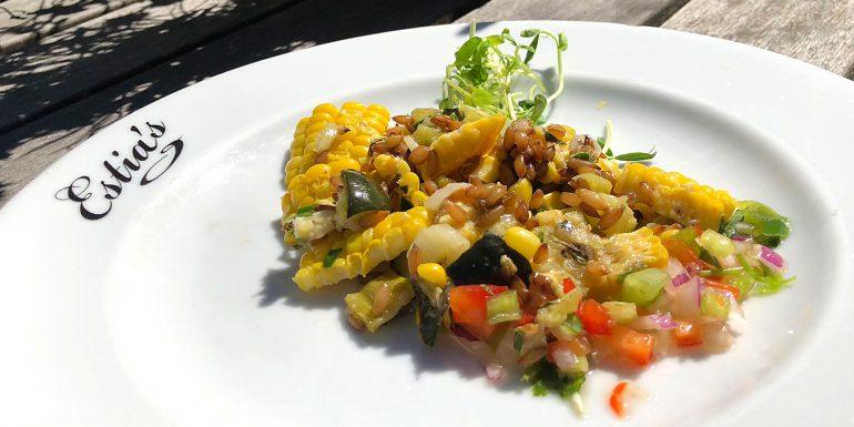 Sweet Corn and Rye Berry Salad