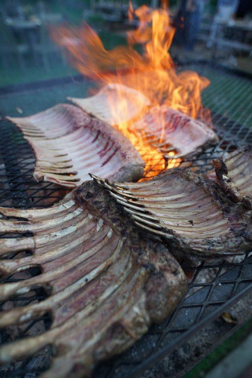Grilling the Lamb Chops