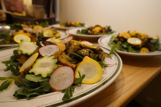 Roasted Red Kuri Squash & Zucchini salad