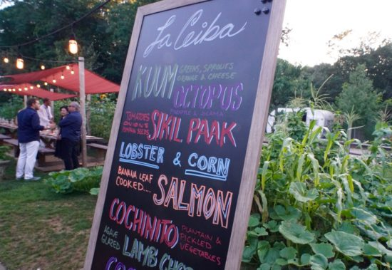 "The ""La Ceiba kitchen"" Menu for the evening"
