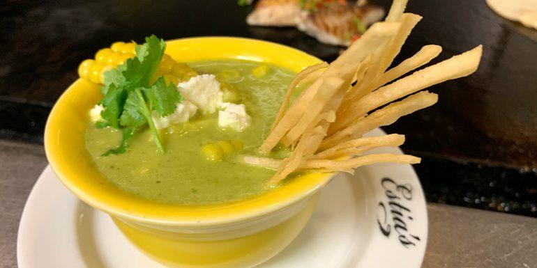 Mexican sweet corn chowder Estia's style