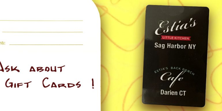 Ask about our gift cards available for and in both locations