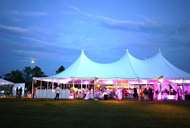 The Ola event tent in Bridgehampton