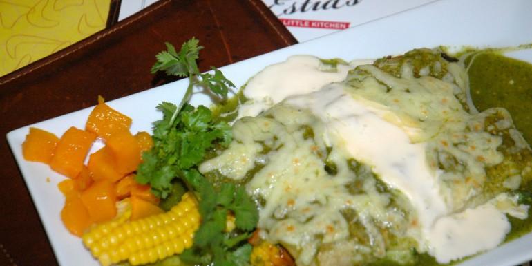 Vegetable Enchiladas with Salsa Verde