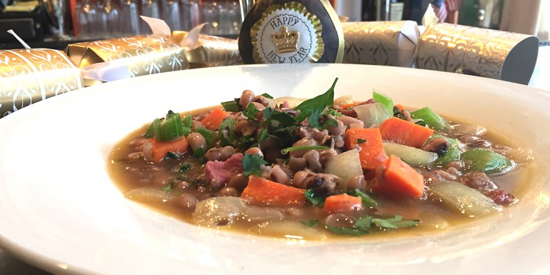 New Year's Black Eyed Pea Soup or Good Luck Soup