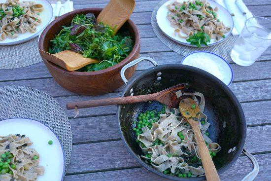 garlic-scape-pasta