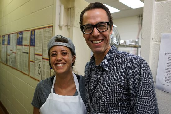 Kat Savoia & Brian Halweil from Edible East End and a Food Lab board member
