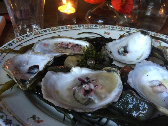 Oysters in Mignonette