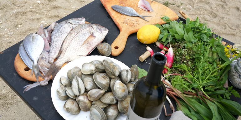 Porgy Clams and Butterfish | recipe by chef Kerry Heffernan