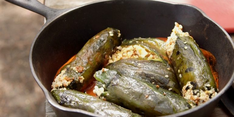 Chili Rellenos by the Au Sable River