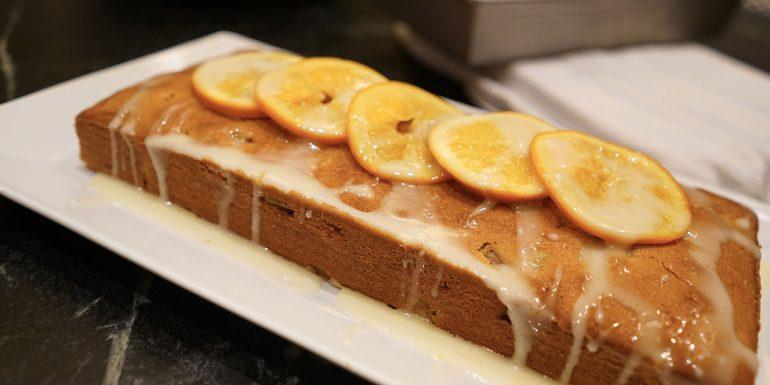 Rhubarb and Orange Pound Cake