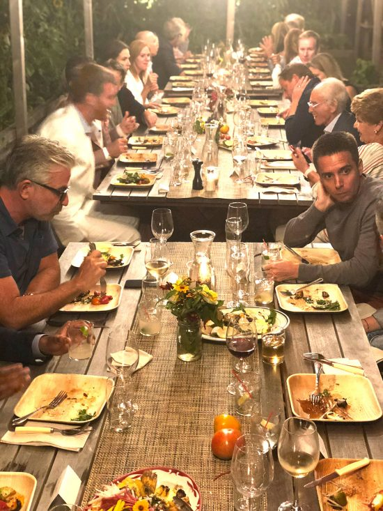 Mayakoba resort clients at Estia's for a dinner party | successful event