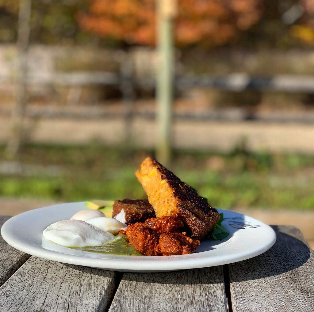 Estia's Little Kitchens Muggsy's Migas cornbread recipe