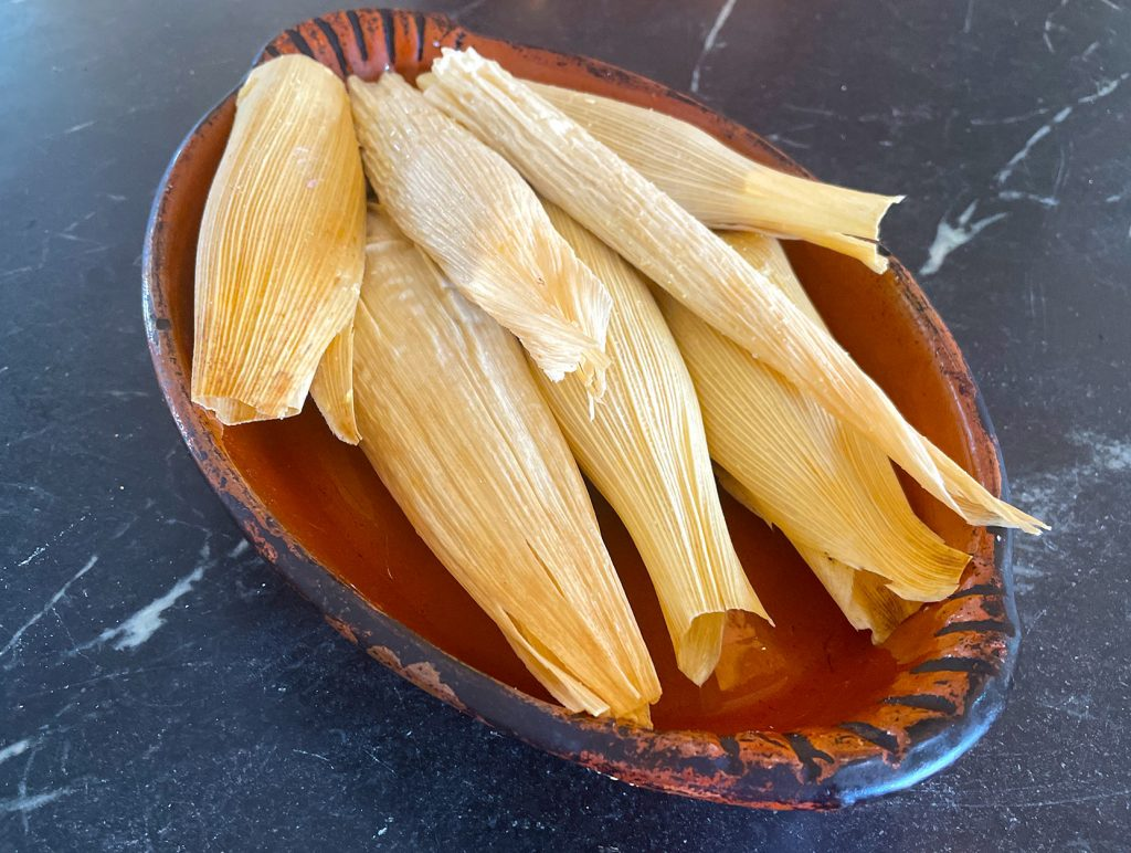 Finished long island duck tamales