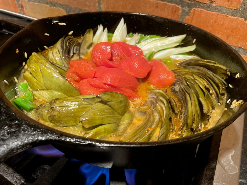Vegan Paella at Estia's for Earth Day weekend