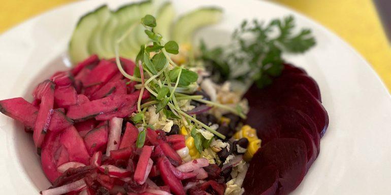 Vegan Aquachile Rojo Salad