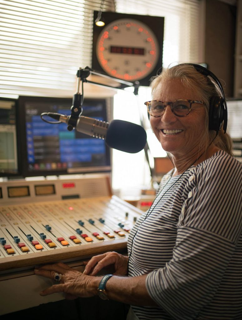 """Jessica Ambrose running the board for """"Lunch on the Deck"""", July 2021"""